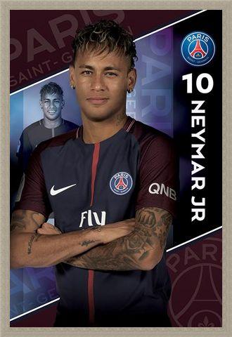 Framed Framed Neymar 16-17 - PSG