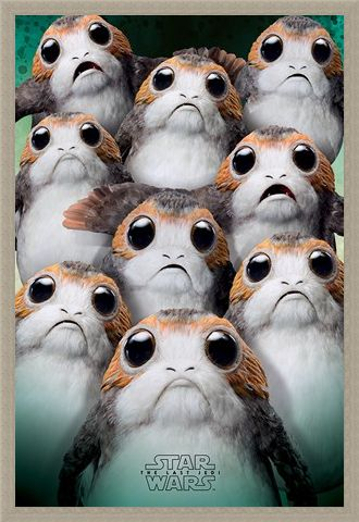 Framed Framed Many Porgs - Star Wars The Last Jedi