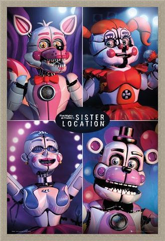 Framed Framed Sister Location Quad - Five Nights at Freddy's