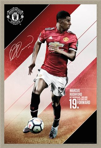 Framed Framed Rashford 17-18 - Manchester United