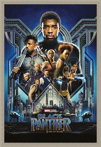 Framed Framed One Sheet - Black Panther