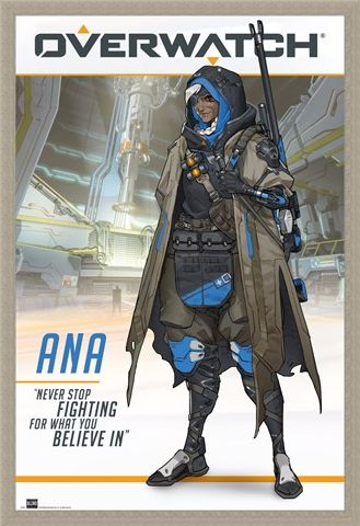Framed Framed Ana The World's Most Elite Sniper - Overwatch