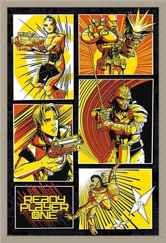 Framed Framed Comic Panels - Ready Player One