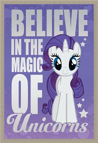 Framed Framed Believe In The Magic Of Unicorns - My Little Pony
