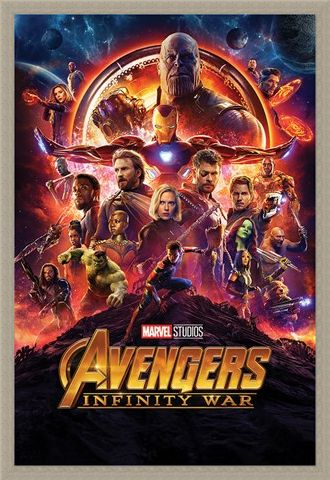 Framed Framed Infinity War One Sheet - Avengers