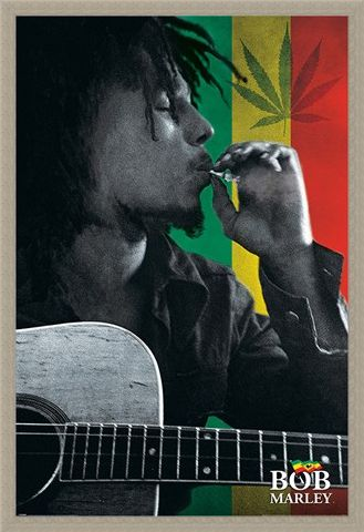 Framed Framed Smoke - Bob Marley