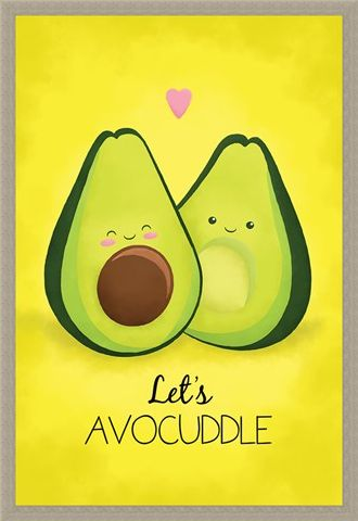 Framed Framed Let's Avocuddle - Avocado