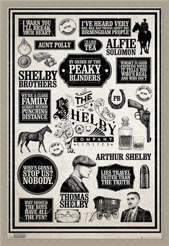 Framed Framed Infographic - Peaky Blinders