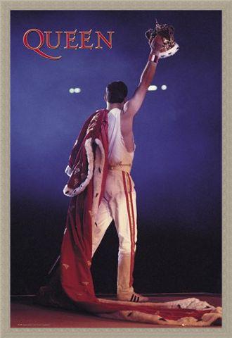 Framed Framed Freddie Mercury Crown - Queen
