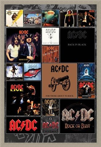 Framed Framed Covers - AC/DC