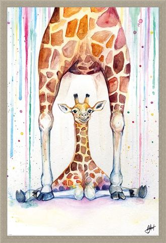 Framed Framed Gorgeous Giraffes - Marc Allante