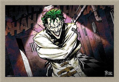 Framed Framed Joker Asylum - DC Comics