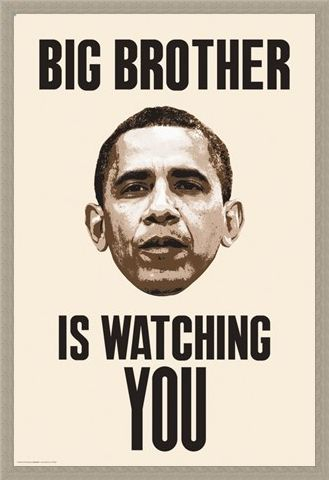 Framed Framed Big Brother Is Watching You - Obama