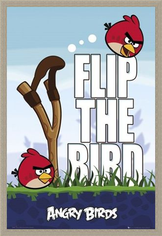 Framed Framed Flip the Bird - Angry Birds