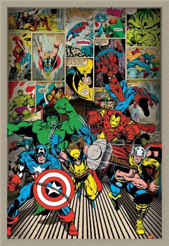 Framed Framed Here Come The Heroes - Marvel Comics