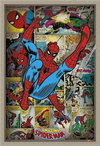 Framed Framed Retro Spiderman Compilation - Marvel Comics