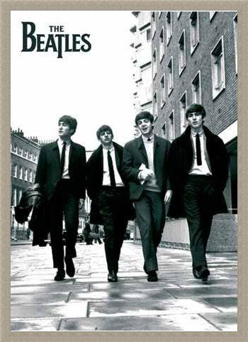 Framed Framed Beatles In London, Black and White Photo - The Beatles