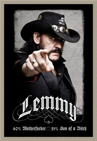 Framed Framed The founding father of Motorhead - Lemmy