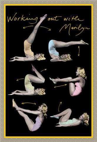 Framed Framed Working Out with Marilyn - Marilyn Monroe