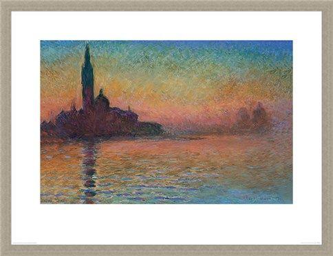 Framed Framed Sunset in Venice - Monet