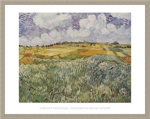 Framed Framed Plains Near Auvers - Vincent Van Gogh
