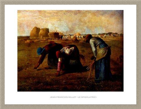 Framed Framed The Gleaners - Jean Francois Millet