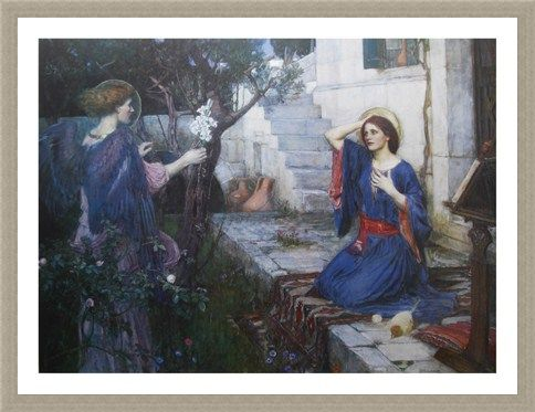 Framed Framed The Annunciation - J W Waterhouse