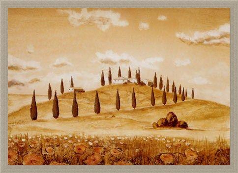 Framed Framed Idylle 3, Tuscany - Andre Martin