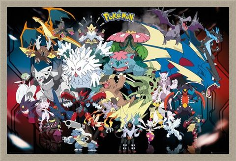Framed Framed Mega Evolutions - Pokemon