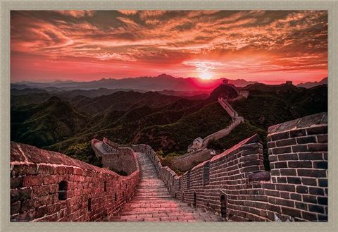Framed Framed The Great Wall Of China Sunset - Travel