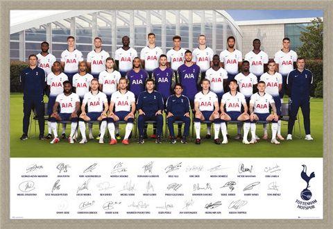 Framed Framed Team Poster 18-19 - Tottenham Hotspur