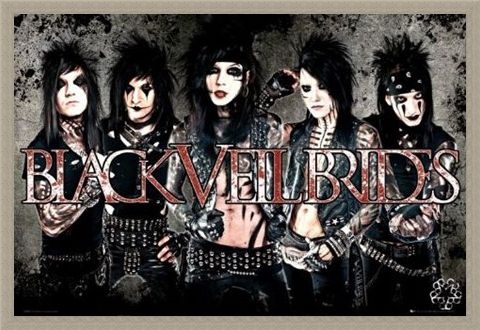 Framed Framed Black Veil Brides - Glam Rock
