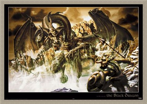 Framed Framed Attacking Dragon - The Black Dragon