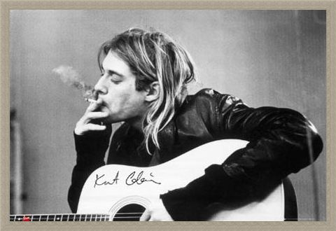 Framed Framed Having a Smoke - Kurt Cobain