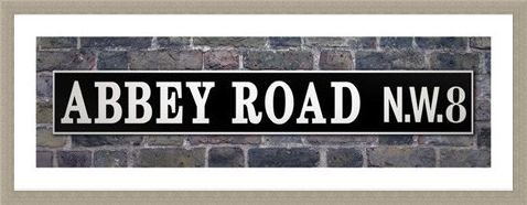 Framed Framed Abbey Road N.W.8 Street Sign - Famous Recording Studio Street Sign
