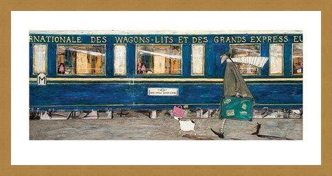 Framed Framed Orient Express Ooh La La - Sam Toft