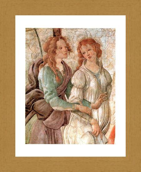 Framed Framed Venere Offre Doni (Particolare) - Sandro Botticelli