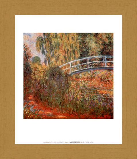 Framed Framed Japanese Bridge - Claude Monet