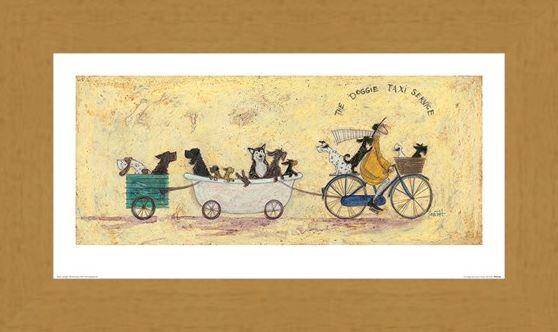 Framed Framed The Doggie Taxi Service - Sam Toft