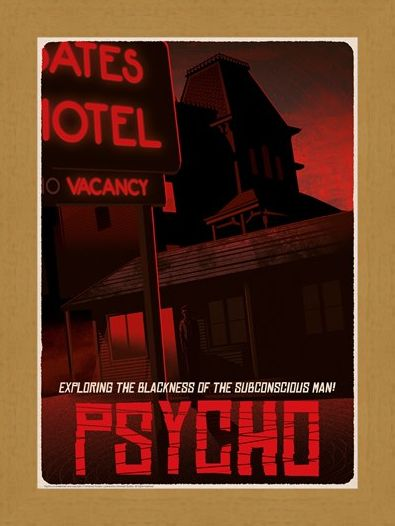 Framed Framed Alfred Hitchcock Psycho Bates Motel Limited Edition Numbered Print -