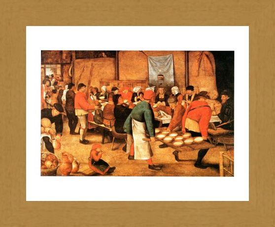 Framed Framed Pranzo Di Nozze - Pieter Bruegel Il Giovane