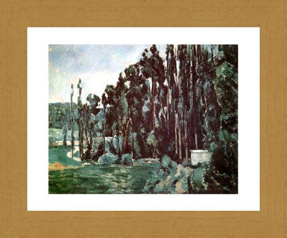 Framed Framed Poplars - Paul Cezanne