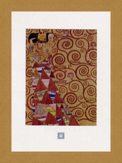 Framed Framed Stoclet Frieze, Expectation, 1905-09 - Gustav Klimt