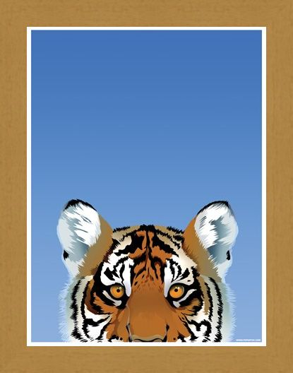 Framed Framed Tiger - Inquisitive Creatures