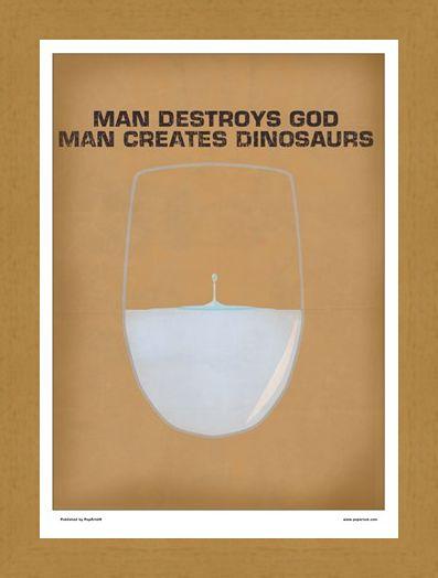 Framed Framed Minimal Movies: Jurassic Park PopArtUK - Jurassic Park