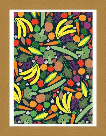 Framed Framed A Colourful Explosion - Vibrant Vegan Mini Poster