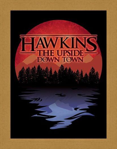 Framed Framed The Upside Down Town Mini Poster - Hawkins