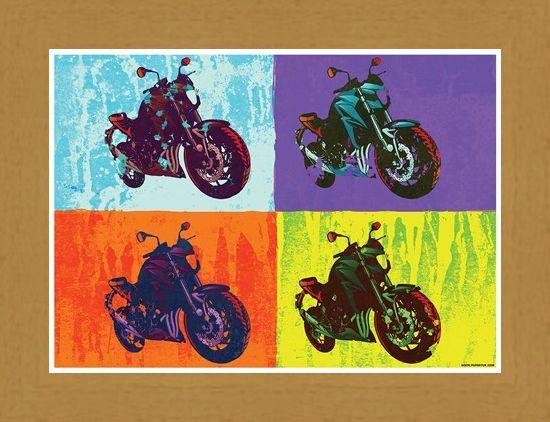 Framed Framed Sixties Chopper - Multicolour Motorcycles
