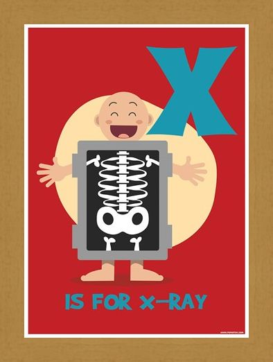 Framed Framed X...Is For X-Ray! - Alphabet Art