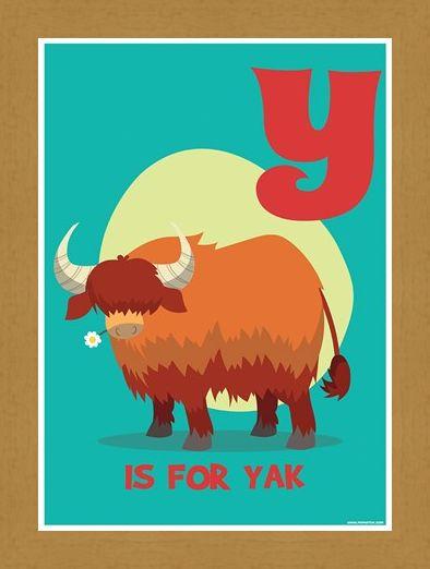 Framed Framed Y...Is For Yak! - Alphabet Art